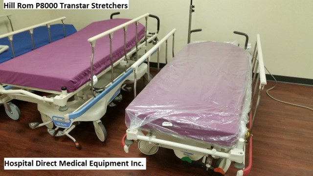 Hill Rom P8000 Transtar Stretchers for sale refurbished - order 858-263-4894 or email us at hospitaldirectmedical@gmail.com