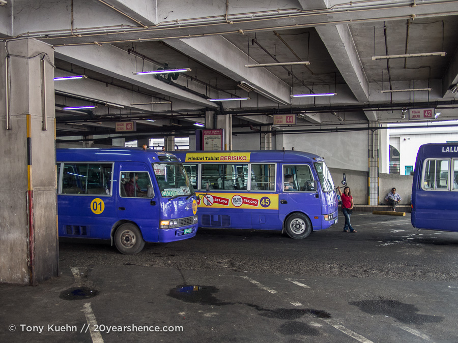 Buses in mian bus station in BSB