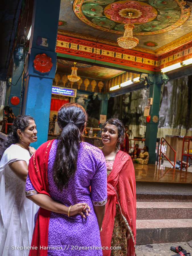 Local girls chatting at the shrine