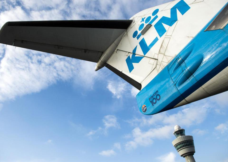 A KLM aircraft is pictured at the Schiphol airport on October 16, 2014. KLM Royal Dutch Airlines have named Pieter Elbers, 44 , as KLM's new chief executive and president, to replace Camiel Eurlings whose term was due to end next April.    AFP PHOTO / ANP / REMKO DE WAAL netherlands out        (Photo credit should read REMKO DE WAAL/AFP/Getty Images)