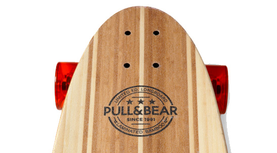 Longboards designed by Pull & Bear