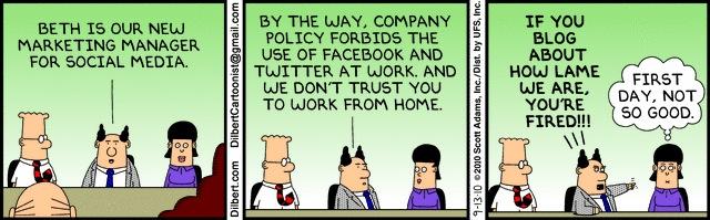 Dilbert at PodCamp MTL