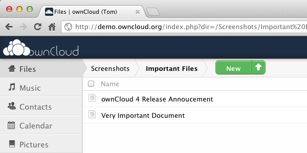 OwnCloud File manager