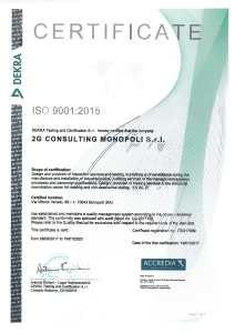 Certificato CDE 2G SRL DEKRA-2
