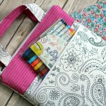 color me fabric {coloring art tote}