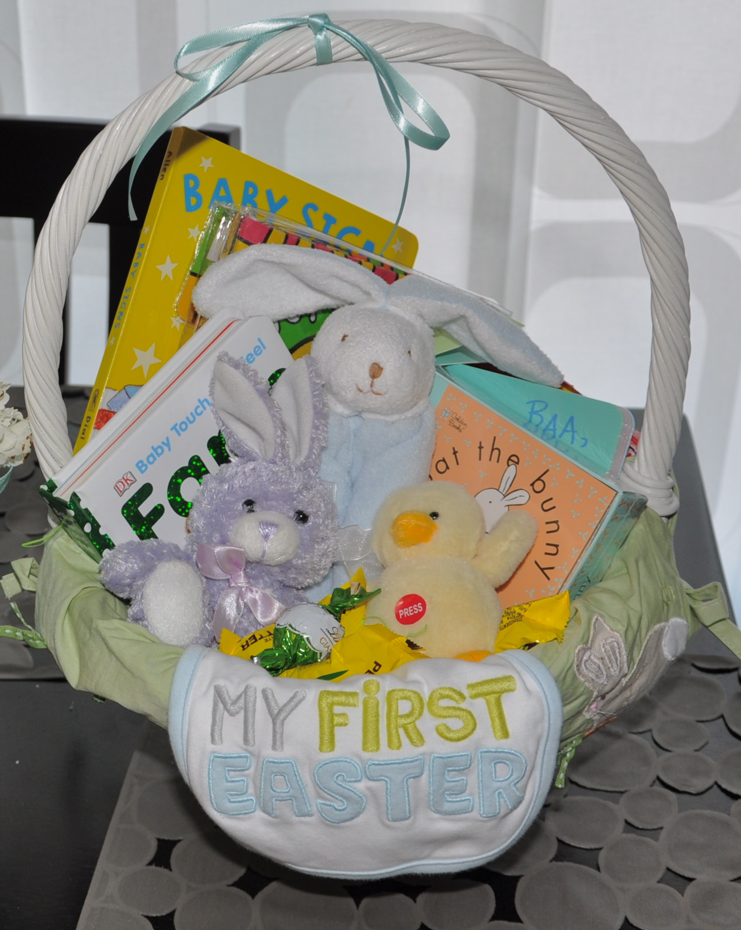 Babys first easter basket 2 sisters 2 cities even though easter is still a month away i like to start hiding away things for my sons easter basket as i come across fun ideas in stores or on line negle Choice Image
