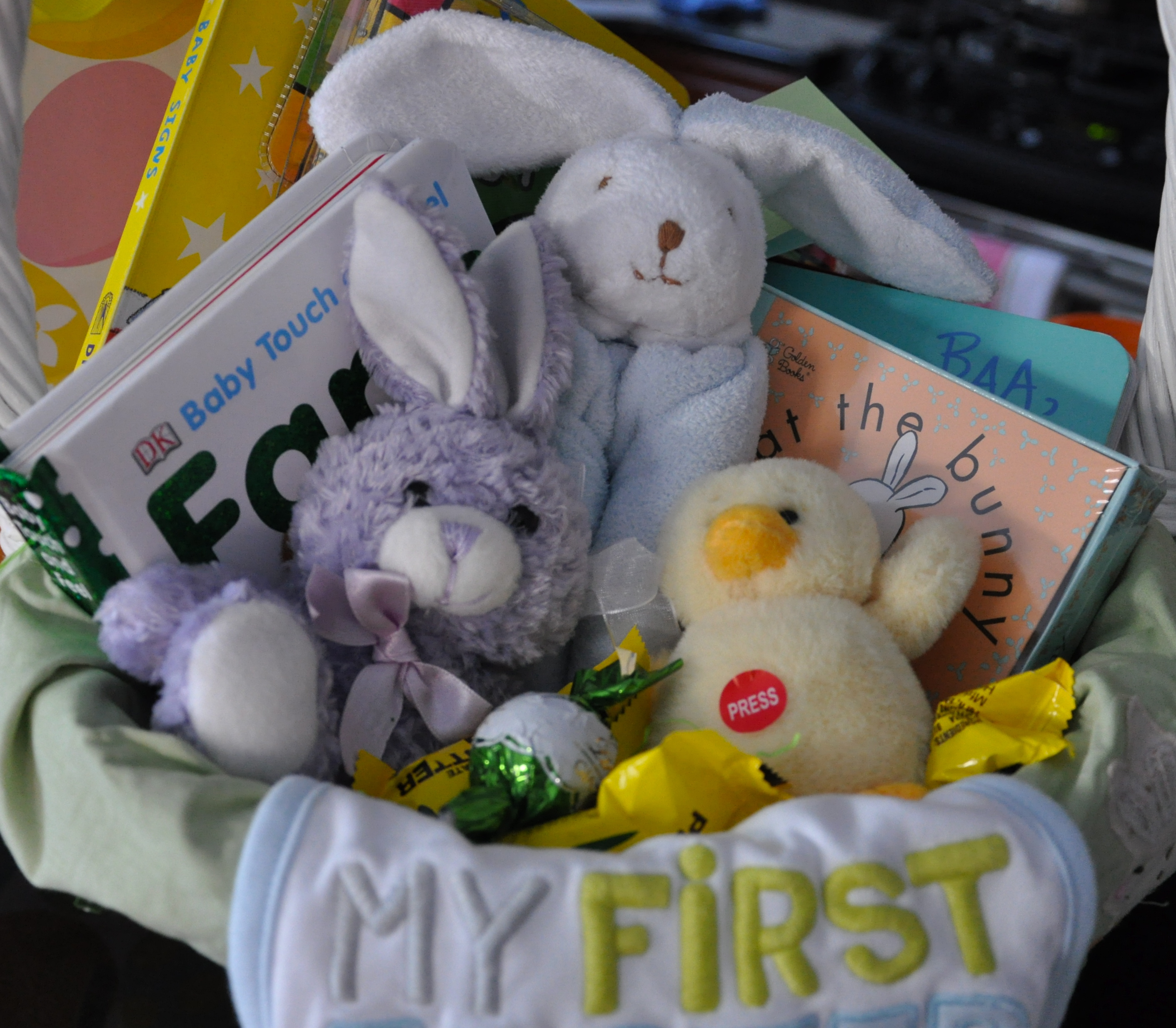 Babys first easter basket 2 sisters 2 cities the negle Image collections