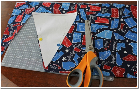 Cutting out Pennant with outline