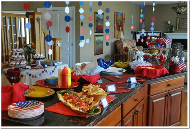 Fourth of July Party Buffet