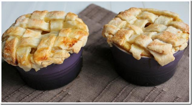 Peach Pies in Ramekins
