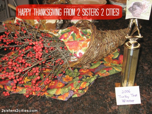 happy thanksgiving from 2 sisters 2 cities!