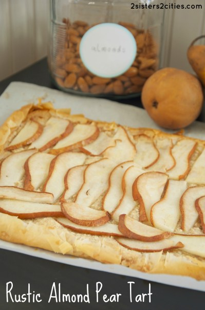 Rustic Almond Pear Tart {from 2 Sisters 2 Cities}