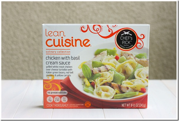 Chicken with Basil Cream Sauce- Lean Cuisine Box