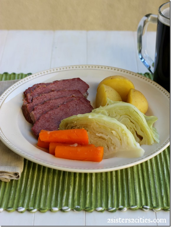 Corned Beef and Cabbage Dinner with Guinness