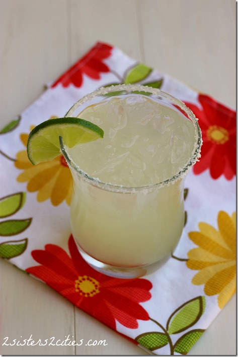 The Classic Lime Margarita {from 2 Sisters 2 Cities}