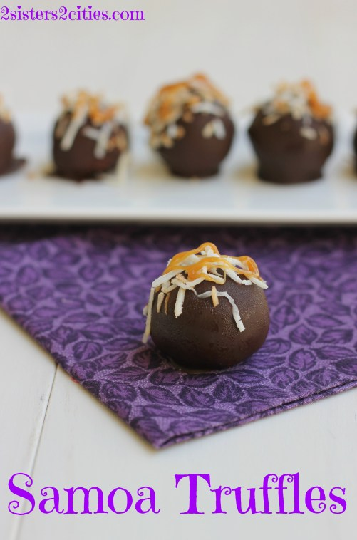 Samoa Truffles with Toasted Coconut and Caramel