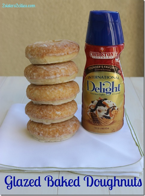 Glazed Baked Doughnut made with Creamer