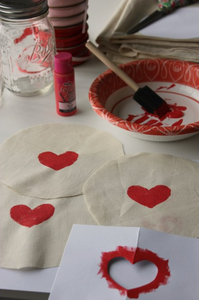 Stenciled Fabric