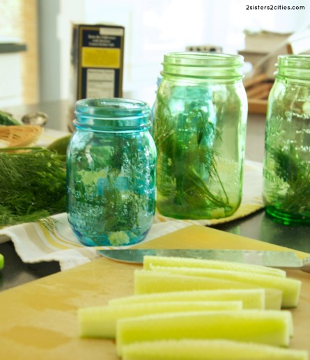 prepping pickles