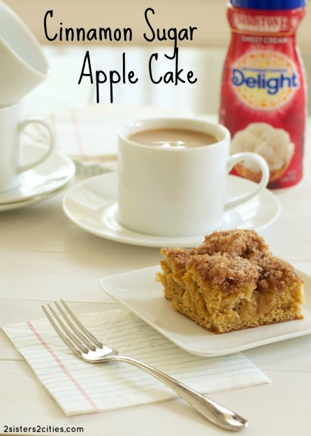 Cinnamon Sugar Apple Cake  {from 2 Sisters 2 Cities}