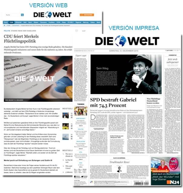 Periódico Die Welt - Alemania