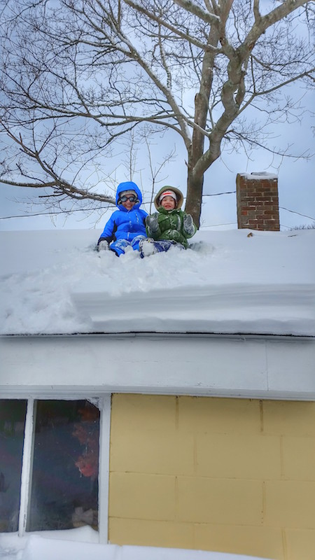 Boys on Roof Winter 2015