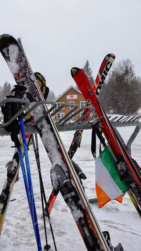 Skis outside at Stratton