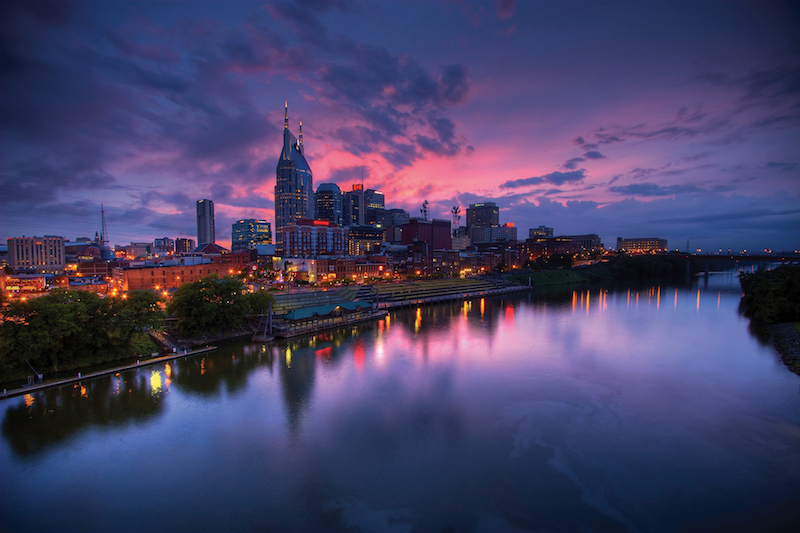 Nashville Skyline Dusk