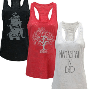 Women's Yoga Burnout Tank Top 3 Pack
