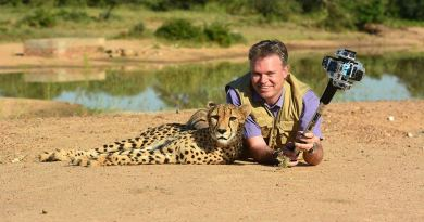Chris Du Plessis is using 360Heros gear to deliver Africa's wildlife to the public. Image Courtesy of Photos of Africa.