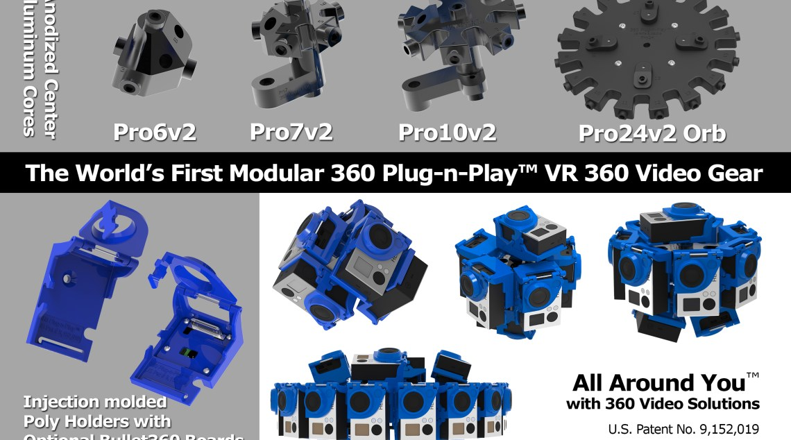 360Heros' new Plug-N-Play holders with aluminum cores.