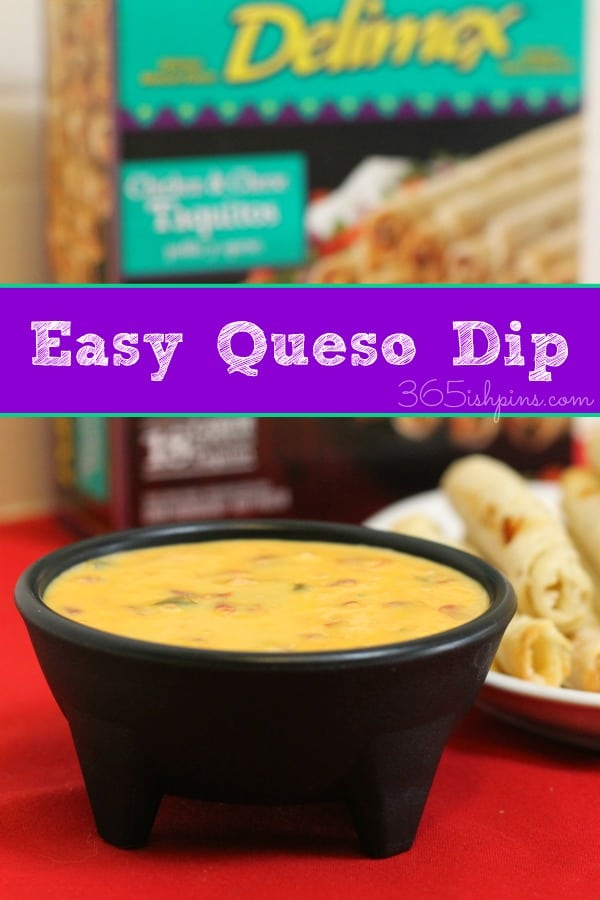 ... dip is only TWO ingredients and it's almost as good. Easy Queso Dip