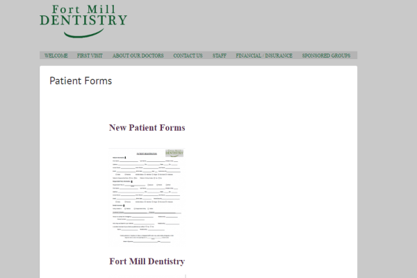 Fort Mill Dentistry Portfolio