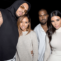 Chris Brown & Karrueche Spotted With Kim & Kanye West At Hollywood Party | Photo