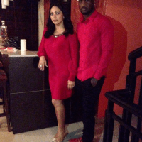 Peter Okoye & Beautiful Wife Lola Step Out For Dinner In Matching Outfits | Peek