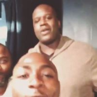Davido Ran Into Shaquille O'Neal Today | Photo + Video
