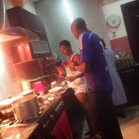 2Face & Annie Idibia Pictured Cooking In Their Kitchen Together Amid Viral Kissing Photo - PEEK