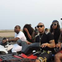 Davido & HKN Gang Joined By Victoria Kimani For Beach Cruise Yesterday - PHOTOS