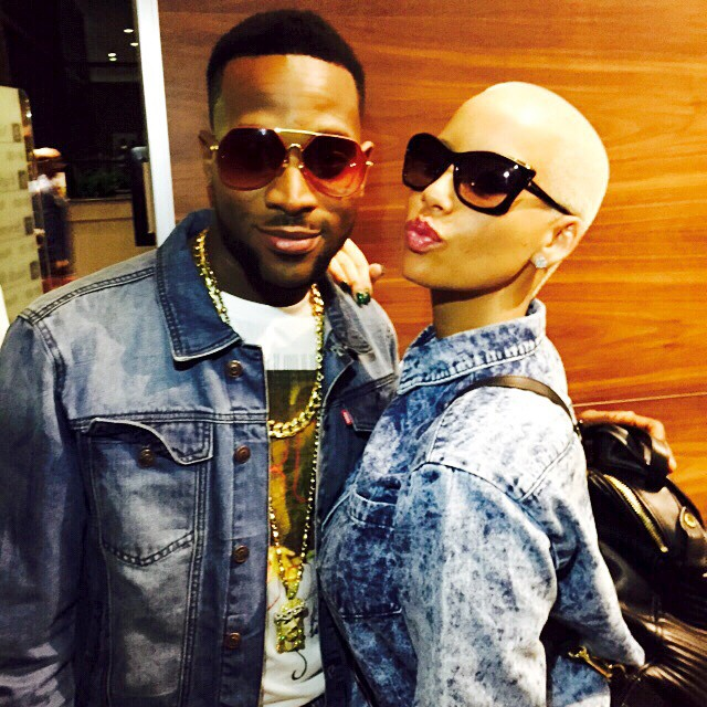 D'Banj and Amber Rose before the