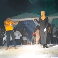 AMBER ROSE Dances To Lil Kesh's 'SHOKI' at D'banj's Concert - WATCH!