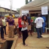 Pasuma Joins Banky W at Poll Unit, Mercy Aigbe and Sasha Also Step Out To Vote