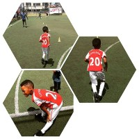 Peter Okoye's Son, Cameron Joins Football Academy | Photos Of Him in Training