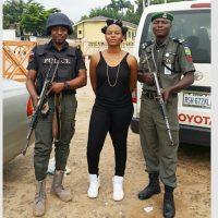 Yemi Alade Poses With Armed Men in Makurdi