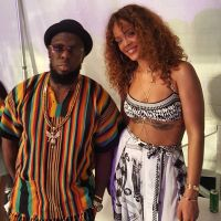 Timaya Poses With Rihanna