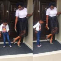What Wizkid's Baby Mama and Son Wore to Church Yesterday
