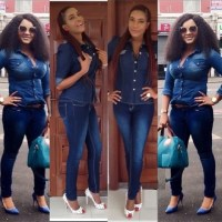 Mercy Aigbe Vs. Chika Ike... Who Rocked The Denim Outfit It Better? (Photos)