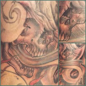 Black and Grey Skull | Aubrey | 39th Street Tattoo Kansas City