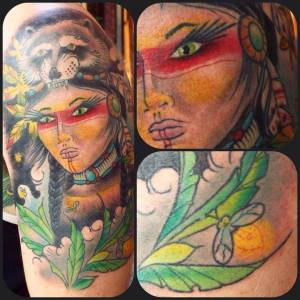 Indian Woman   Aubrey   39th Street Tattoo Kansas City