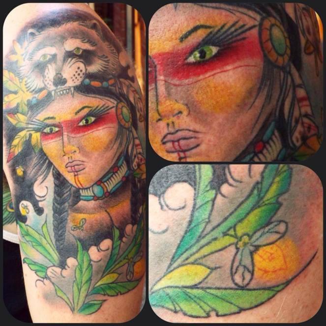 Indian Woman | Aubrey | 39th Street Tattoo Kansas City