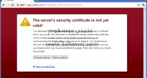حل مشكلة Server security certificate not yet valid